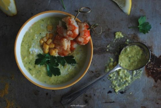 crema di zucchine e mais 1
