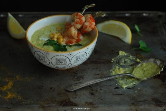 crema di zucchine e mais 6
