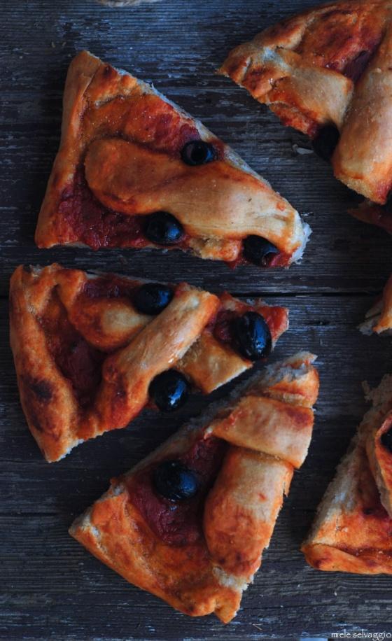 pizza rossa con timo e olive nere 6